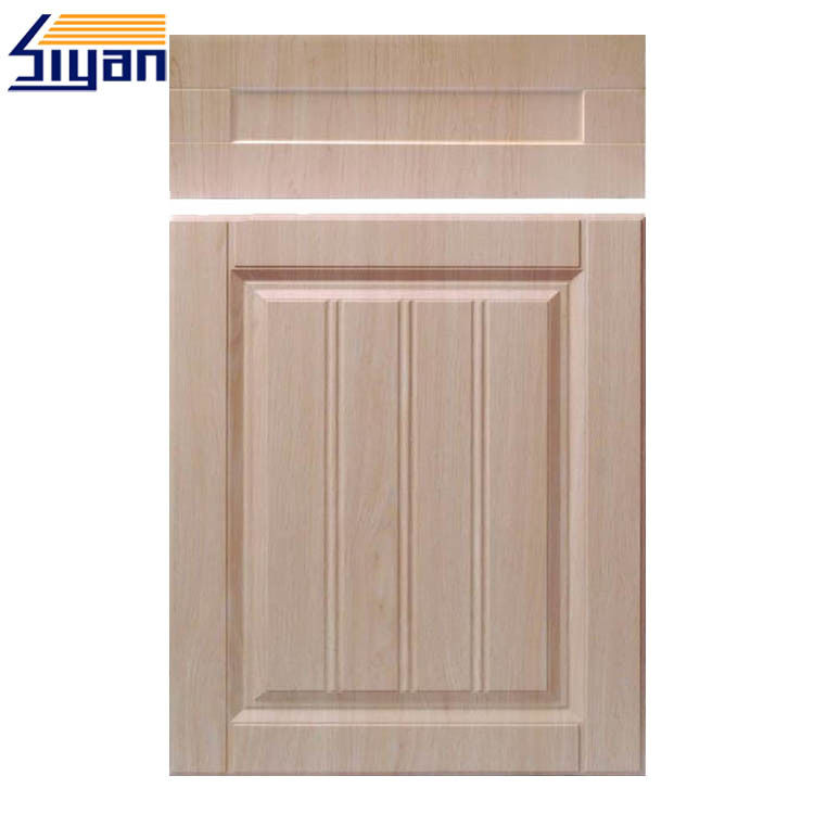 Plastic Panels Shaker Style Cupboard Doors , Wood Grain Kitchen Doors