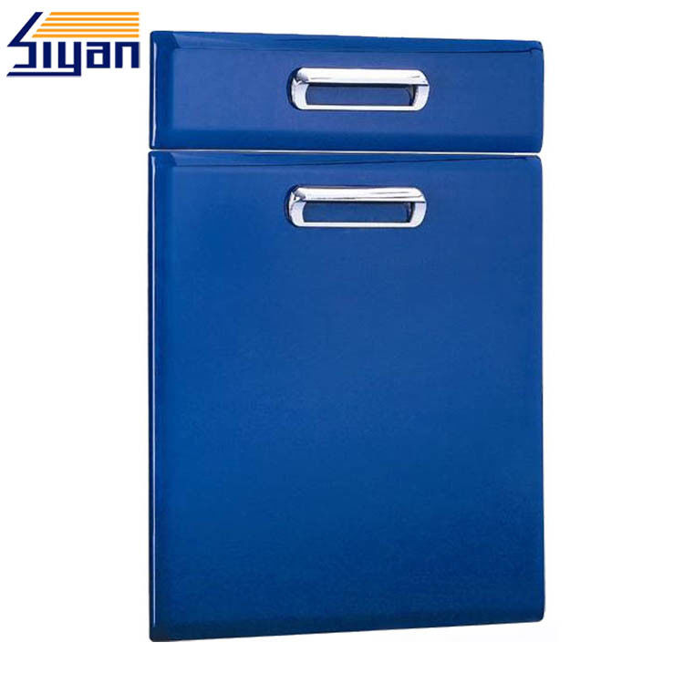 Prefabricated Modern Kitchen Cabinet Doors Laminating / Lacquering Dark Blue Color