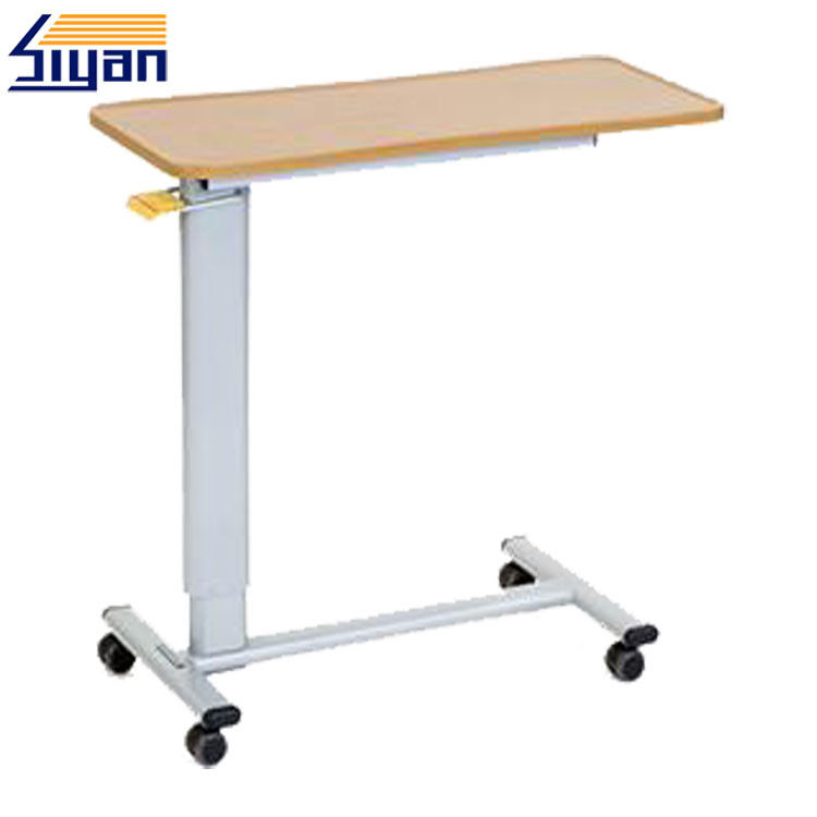 Compact Laminate Overbed Table Swivel Top Chemical Resistant 15MM MDF Board Materials