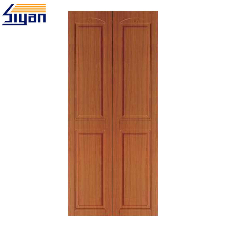 Double MDF Bedroom Wardrobe Doors For Wooden Clothes Cabinet , PVC Film Surface